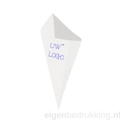 Witte frietzak klein, 250gr