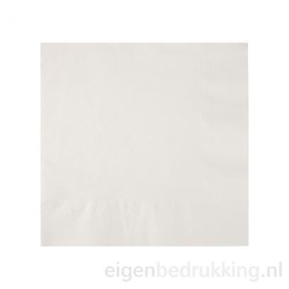 Servet wit middel, 33 x 33 cm