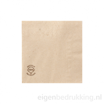 Cocktailservet bruin, 20 x 20 cm