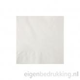 Cocktailservet wit, 20 x 20 cm
