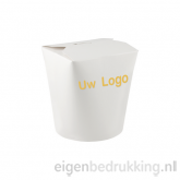 Noodlebox rond wit, 480ml