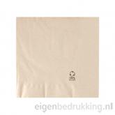 Servet bruin middel, 33 x 33 cm