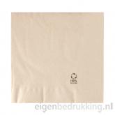 Servet bruin groot, 40 x 40 cm